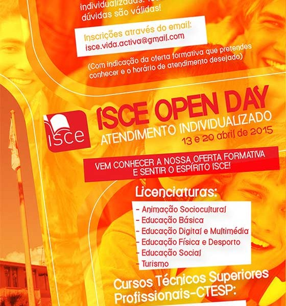 Atendimento só para ti no Open Day do ISCE