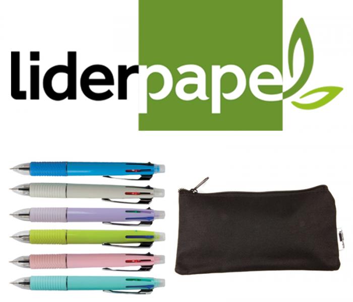 Ganha 7 kits caneta+estojo da Liderpapel