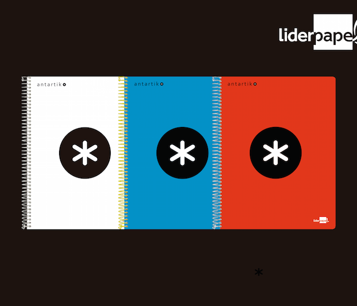 Ganha 3 cadernos Antartik by Liderpapel