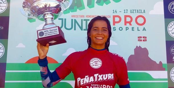 A Campeã da Europa de Surf Júnior é nossa!